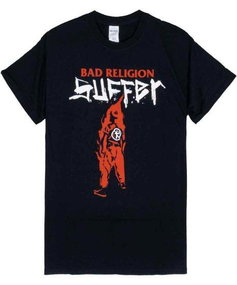 バッド レリジョン ( Bad Religion ) バンドTシャツ Suffer Blkカラー:ブラック<br>サイズ:M〜XL<br>Sufferのジャケットロゴと少年のデザイン。