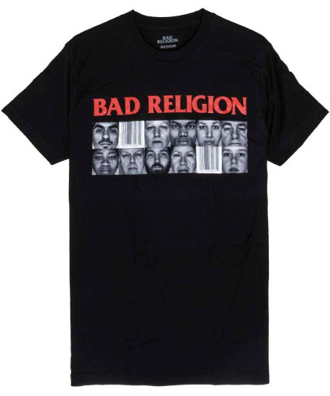 バッド レリジョン ( Bad Religion ) バンドTシャツ The Gray Raceカラー:ブラック<br>サイズ:M〜XL<br>The Gray Raceのジャケットデザイン