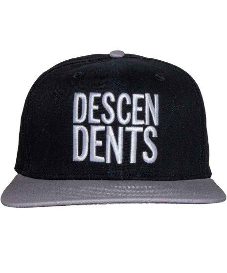 ディセンデンツ ( Descendents ) 6パネルスナップバックキャップ  バンドロゴカラー:ブラック<br>サイズ:フリー<br>ブラックとグレーのロゴキャップ