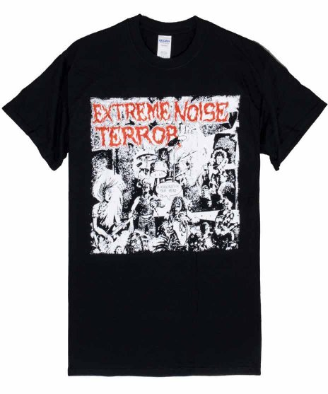 Extreme Noise Terror バンドTシャツ A Holocaust in Your Headカラー:ブラック<br>サイズ:M〜L<br>アルバムA Holocaust in Your Head.のデザイン