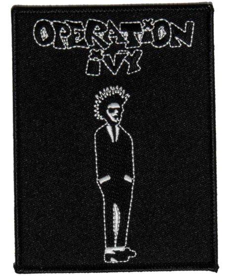 Operation Ivy 刺繍ワッペン Ska Manカラー:BLK × WHT<br>サイズ:9.3 × 11..5cm<br>Ska Man