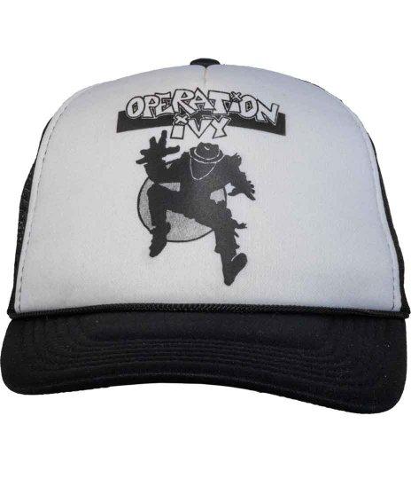 Operation Ivy 5パネルメッシュキャップ Ska Manカラー:ブラック<br>サイズ:フリー<br>Operation IvyのSKA MANのプリント