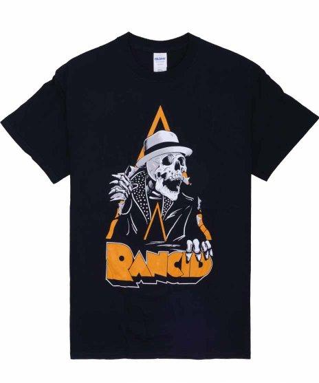 ランシド ( Rancid ) Skele-Tim Breakout バンドTシャツカラー:ブラック<br>サイズ:S〜XL<br>Skele-Tim Breakout