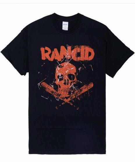ランシド ( Rancid ) Skull / Bats バンドTシャツカラー:ブラック<br>サイズ:S〜XL<br>Skull Bats