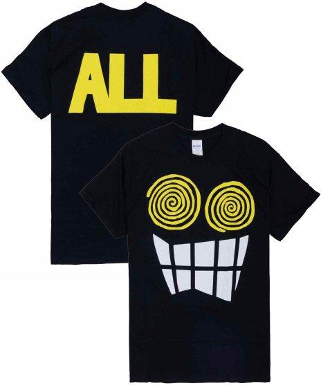 All ( オール ) Allroy  バンドTシャツカラー:ブラック<br>サイズ:M〜XL<br>ALLROYの大きいデザイン。