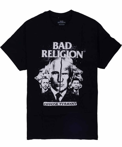 バッド レリジョン ( Bad Religion ) バンドTシャツ Oppose Tyrannyカラー:ブラック<br>サイズ:S〜XL<br>Oppose Tyranny