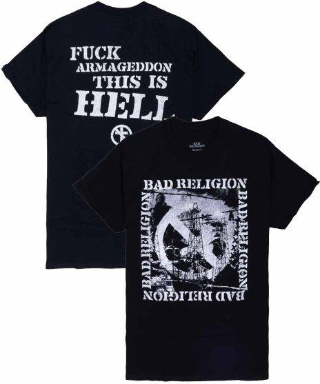 バッド レリジョン ( Bad Religion ) バンドTシャツ This Is Hellカラー:ブラック<br>サイズ:S〜XL<br>This Is Hell