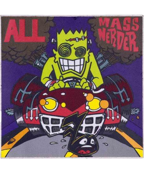ALL バンドステッカー Mass Nerder カラー:フルカラー<br>サイズ:10 × 10.cm<br>Mass Nerder ジャケットデザイン