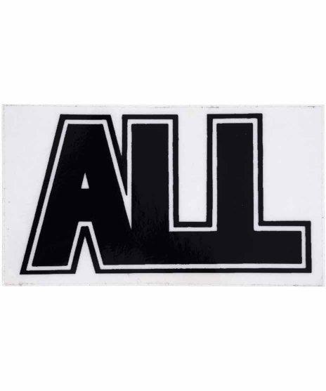 ALL バンドステッカー ロゴカラー:フルカラー<br>サイズ:10 × 10.cm<br>バンドロゴステッカー