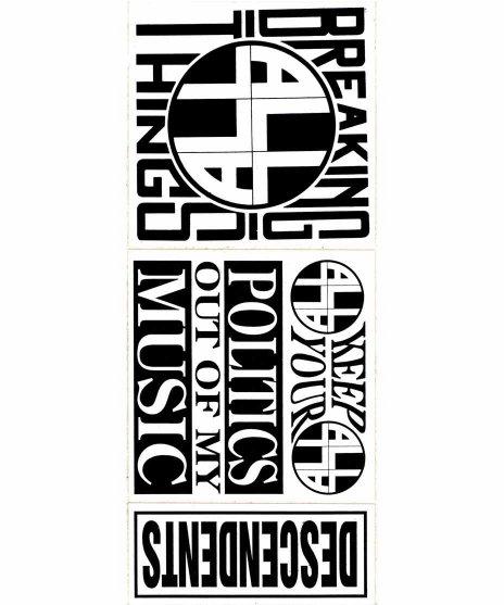 Descendents × ALL バンドステッカーシートカラー:ブラック×ホワイト<br>サイズ:22.5 × 9.5cm<br>Descendents × ALL ステッカーシート