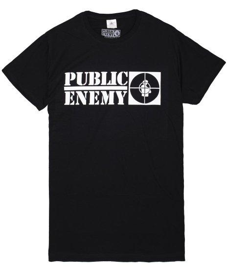 パブリックエネミー ( Public Enemy ) ロゴ オフィシャルバンドTシャツカラー:ブラック<br>サイズ:L,XL<br>Public Enemyバンドロゴ。