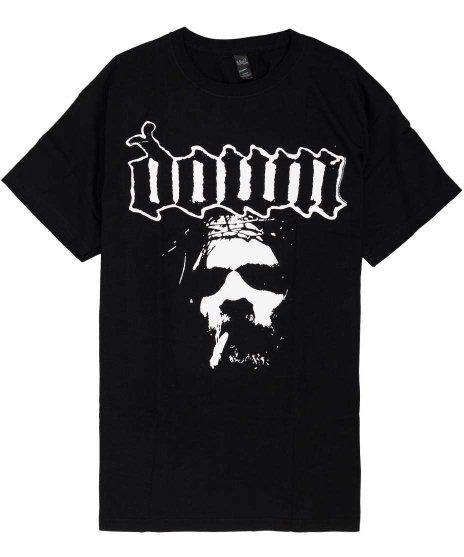 Down オフィシャルバンドTシャツ Faceカラー:ブラック<br>サイズ:M,L<br>Face
