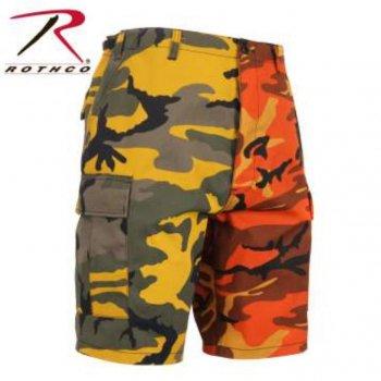 ロスコ ROTHCO Colored Camo BDU Shorts ショーツ Stinger Yellow/Savage Orange Camo カモ SHORT PANTS Mサイズ