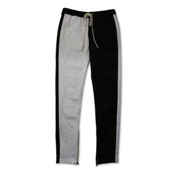 ケーディーエヌケー KDNK 2-TONE TRACK PANTS パンツ BLACK/WHITE ブラック/ホワイト PANTS Lサイズ