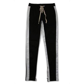 ケーディーエヌケー KDNK STRIPED ANKLE ZIP PANTS パンツ BLACK ブラック PANTS Mサイズ
