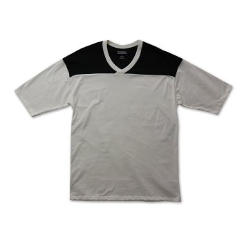 ケーディーエヌケー KDNK COLOR BLOCKED FOOTBALL JERSEY TEE Tシャツ OFF WHITE オフホワイト S/S T-SHIRTS Lサイズ