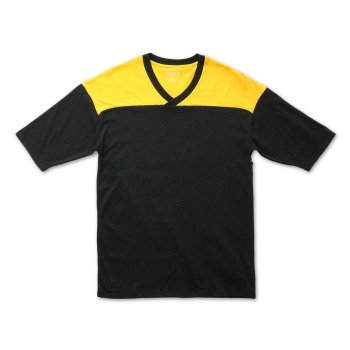 ケーディーエヌケー KDNK COLOR BLOCKED FOOTBALL JERSEY TEE Tシャツ BLACK ブラック S/S T-SHIRTS Mサイズ