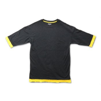 ケーディーエヌケー KDNK CUT EDGE DROP SHOULDER TEE Tシャツ BLACK ブラック S/S T-SHIRTS Mサイズ