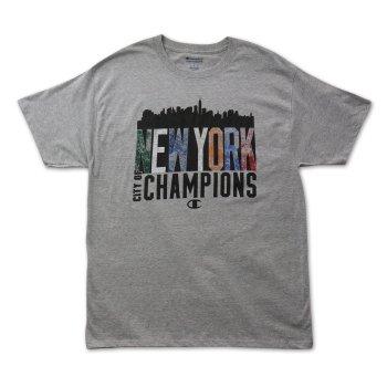 チャンピオン CHAMPION NY CITY OF CHAMPS OXF TEE Tシャツ GREY グレー S/S T-SHIRTS