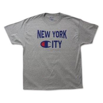 チャンピオン CHAMPION NYC LIFE TEE Tシャツ GREY グレー S/S T-SHIRTS XLサイズ