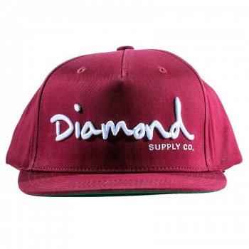 ダイアモンドサプライ DIAMOND SUPPLY CO. OG SCRIPT SNAPBACK キャップ BURGUNDY バーガンディ CAP
