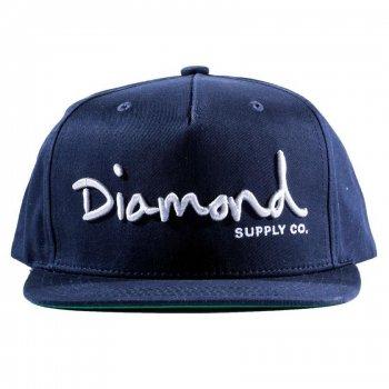 ダイアモンドサプライ DIAMOND SUPPLY CO. OG SCRIPT SNAPBACK キャップ NAVY ネイビー CAP