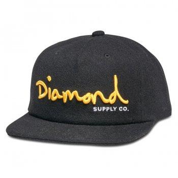 ダイアモンドサプライ DIAMOND SUPPLY CO. OG SCRIPT UNCONSTRUCTED SNAPBACK HO17 キャップ BLACK ブラック CAP