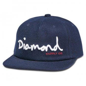 ダイアモンドサプライ DIAMOND SUPPLY CO. OG SCRIPT UNCONSTRUCTED SNAPBACK HO17 キャップ NAVY ネイビー CAP