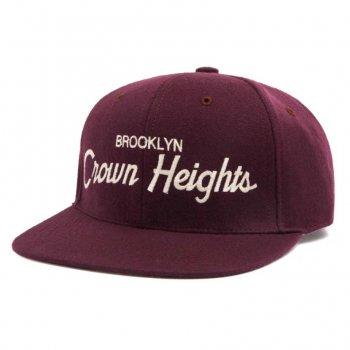 HOOD HAT Crown Heights キャップ Snapback MAROON マルーン CAP