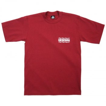 ハイクラウン HICROWN BRAND LOGO TEE Tシャツ BURGUNDY バーガンディー S/S T-SHIRTS