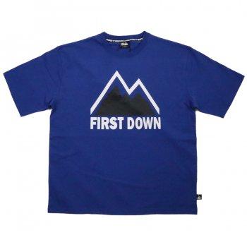 ファーストダウン FIRST DOWN TEE プリントTシャツ BLUE ブルー S/S T-SHIRTS