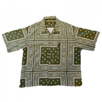 マッドエフェクト MAD EFFECT PAISLEY SHIRT ペイズリーシャツ ARMY アーミー S/S SHIRTS