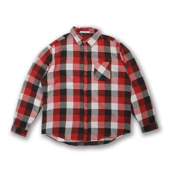 ミニマル mnml VINTAGE FLANNEL DROP SHOULDER SHIRT シャツ BlackRedWhite ブラックレッドホワイト L/S SHIRTS