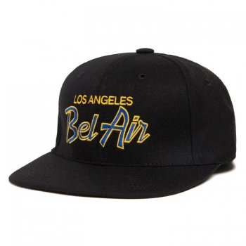 HOOD HAT BEL AIR RAM キャップ Snapback BLACK ブラック CAP