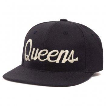 HOOD HAT Queens キャップ Snapback NAVY ネイビー CAP