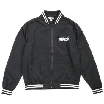 ハイクラウン HICROWN BRAND LOGO Bomber Jacket ボンバージャケット BLACK/WHITE ブラック/ホワイト STADIUM JAMPER