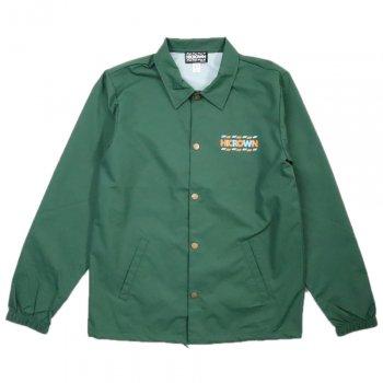 ハイクラウン HICROWN BRAND LOGO Premium Wind Breaker コーチジャケット GREEN グリーン COLOR PRINT JACKET