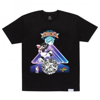 ダイアモンドサプライ DIAMOND SUPPLY CO. KNICKS TEE Tシャツ BLACK ブラック S/S T-SHIRTS