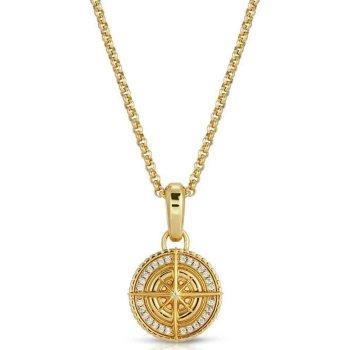 ザ・ゴールドゴッズ THE GOLD GODS Compass with Middle Fill In White Gold ネックレス GOLD ゴールド NECKLACE