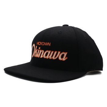 <img class='new_mark_img1' src='https://img.shop-pro.jp/img/new/icons15.gif' style='border:none;display:inline;margin:0px;padding:0px;width:auto;' />HOOD HAT×HICROWN×OKINAWA キャップ Snapback BLACK ブラック CAP