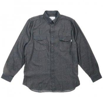 エピトミ EPTM. L/S DENIM SIDE ZIP SHIRT シャツ VINTAGE BLACK ブラック L/S SHIRTS
