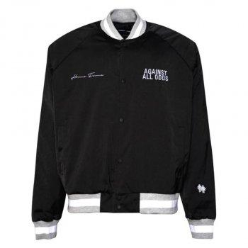 オムフェムエルエー HOMME+FEMME LA Varsity Jacket ジャケット Black and Grey ブラックアンドグレー JACKET