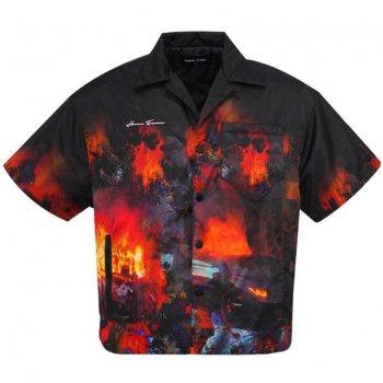 オムフェムエルエー HOMME+FEMME LA Riot Puffer Shirt シャツ Black ブラック S/S SHIRTS