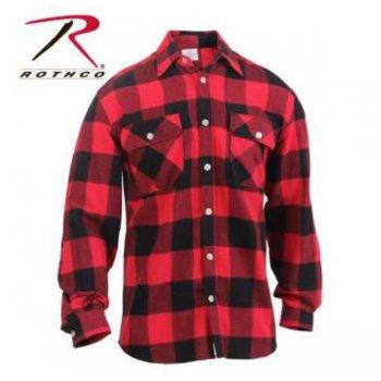 ロスコ Rothco Lightweight Flannel Shirt ライトウェイトフランネルシャツ RED BLACK レッドブラック L/S SHIRTS