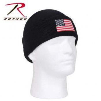 ロスコ Rothco US Flag Embroidered Watch Cap ニットキャップ Black ブラック KNITCAP