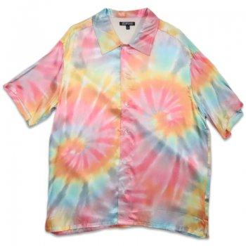 エルウッド ELWOOD Tie Dye Satin Button Up シャツ Tie Dye タイダイ S/S SHIRTS