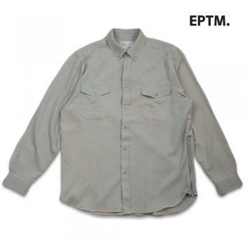 エピトミ EPTM. L/S DENIM SIDE ZIP SHIRT シャツ VINTAGE AQUA アクア L/S SHIRTS