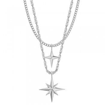 <img class='new_mark_img1' src='https://img.shop-pro.jp/img/new/icons15.gif' style='border:none;display:inline;margin:0px;padding:0px;width:auto;' />ミスター Mister Twin Star Necklace ネックレス Chrome クローム NECKLACE