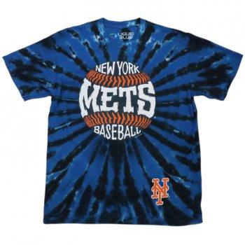 <img class='new_mark_img1' src='https://img.shop-pro.jp/img/new/icons15.gif' style='border:none;display:inline;margin:0px;padding:0px;width:auto;' />リキッドブルー LIQUID BLUE New York Mets Burst Tie-Dye Tシャツ tie dye blue タイダイブルー S/S T-SHIRTS