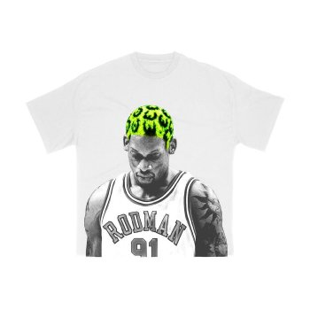 ロッドマンブランド RODMAN BRAND HAIR GREEN TSHIRT ヘアグリーンTシャツ WHITE ホワイト S/S T-SHIRTS